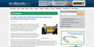 Arcadia's Edge Wins Multi-Housing News Excellence Award